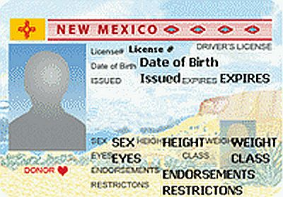 new mexico drivers license replacement